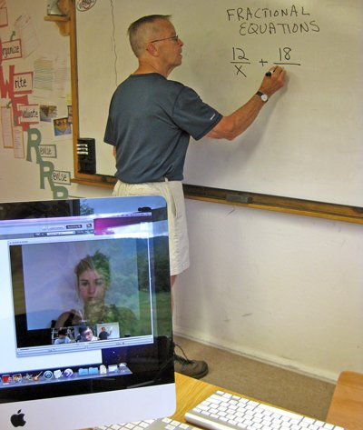 Roger Loud teaches the online algebra class through North Country School.