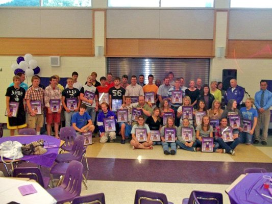 The Ticonderoga Booster Club recently honored all the varsity senior athletes at the annual Senior Athletic Awards Banquet.