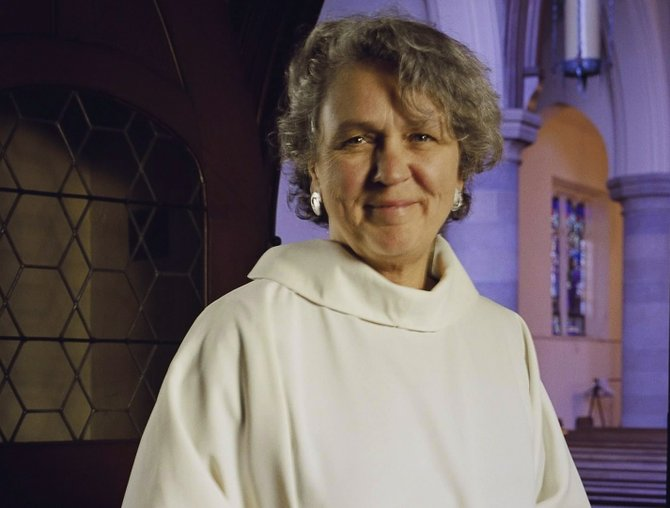 The Rev. Jacqueline Schmitt is the new rector at St. David's Church in DeWitt.
