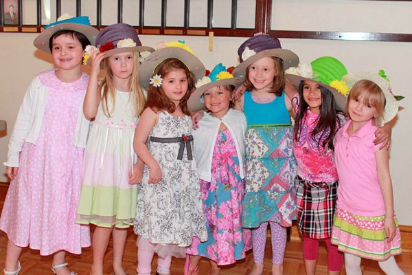 A garden party theme Mother/Daughter Tea was held at the Knights of at the end April.  Approximately 40 area girls from Schroon Lake, Ticonderoga and Moriah attended this event with their mothers.