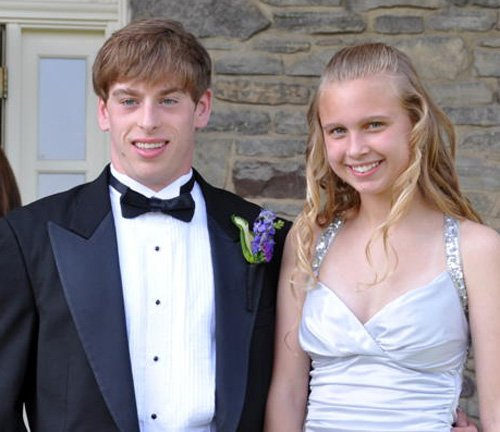 Jack O'Brien, of Syracuse, and Rachel Zajdel, of Jamesville, on the night of senior ball in May.