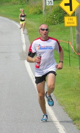 Dave Burrows won the 2011 Heritage 10K in a course record 44 minutes, 22 seconds.