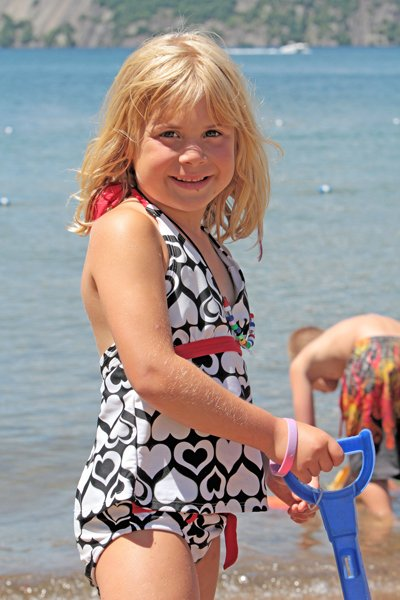 Lizzie Rich enjoys a day at the beach as part of the Ticonderoga summer youth recreation program. More than 150 youngsters signed up for the program, according to Angie MacAlpine, program director, with more than 100 attending on a daily basis.