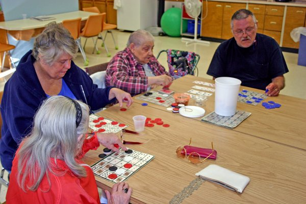 Countryside seniors playing bingo.