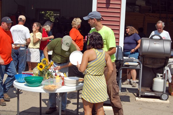 Approximately 200 people attended the cookout put on by Keene Sept. 2 to thank volunteers who helped with the towns clean up of storm damage.