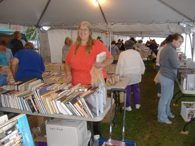 Hours of happy browsing and thousands of volumes await book lovers at the annual five-day used book sale held on the Canton Street grounds of the Museum at the Shacksboro Schoolhouse. This year's event opens at 5 p.m. Thursday, Sept. 8 and closes at 8 p.m. Monday, Sept. 12.