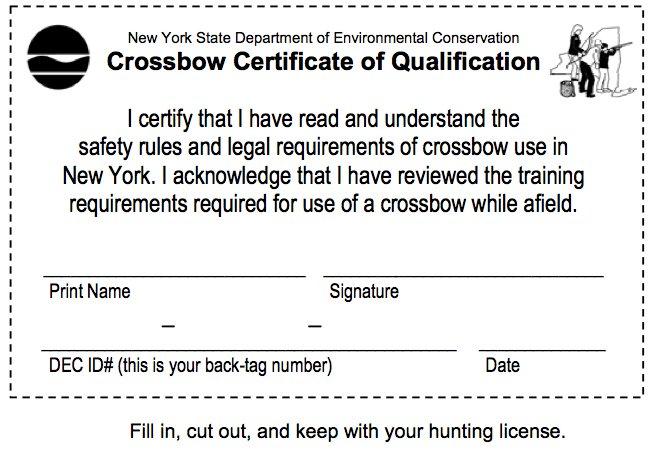 Crossbows legal during regular big game season north for Ny dec fishing license
