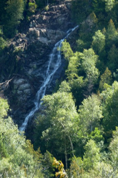 A 'new' Cascade Falls, which tumbles from high in the notch located between the Upper and Lower Cascade Lakes in Keene, was revealed following Tropical Storm Irene.  Although measurements need to be verified, the flow may be in contention for the title of the tallest waterfall in the Adirondacks.  Currently, the title is held by T-Lake Falls, near Piesco in Hamiliton County, which falls over 600 feet.