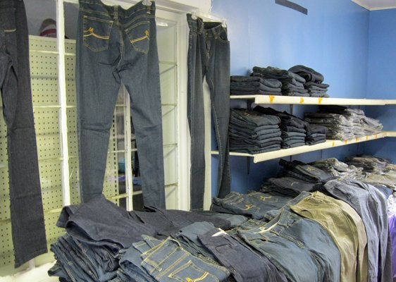 St. Mary's Mission Center in Champlain received more than 2,300 pieces of counterfeit women's clothing seized by U.S. Customs and Border Protection. The donation will go to help the less fortunate here and in Joplin, Mo.