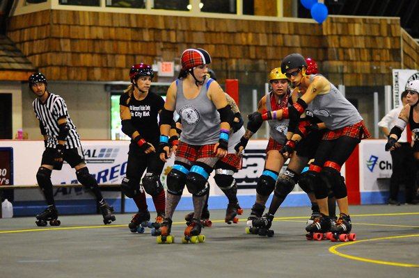 The North Country Lumber Jills roller derby team will take on the Twin City Riots, a derby team out of Barre, Vt., Saturday, Oct. 29. The match-up will be the first home bout for the Lumber Jills.