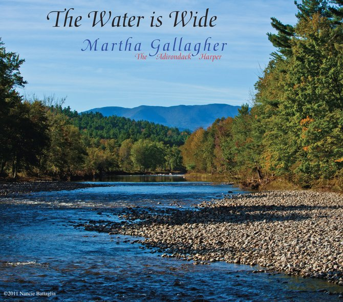 "Here is the album cover for ""Water is Wide,"" by Martha Gallagher, with proceeds benefiting the Keene Flood Relief Fund. The cover art was donated by Nancie Battaglia."