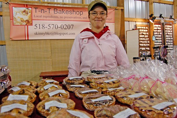 Christa Zoeller of T-n-T Bakeshop, Keeseville, has been among the new vendors at this year's Plattsburgh Farmers and Crafters Market. Zoeller said she's enjoyed meeting new people and introducing people to her line of homemade baked goods.