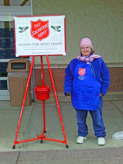 Tina Martin is the Salvation Army Red Kettle campaign Port Henry coordinator. She and Glen Buell, Ticonderoga coordinator, are seeking volunteers for the 2011 holiday season.