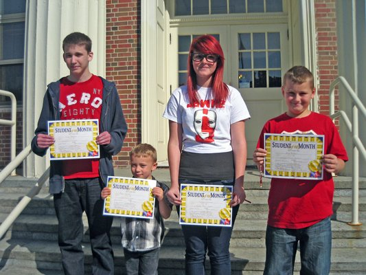 Cullin Johnston, Aidan Parrott, Makayla Coleman and Alex Russell were named Crown Point Central School's students of the month for September.