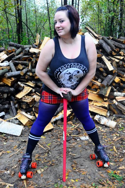 Lorrielle Bombardier is among the members of the North Country Lumber Jills roller derby team preparing for a bout against the Twin City Riots Saturday, Oct. 29.