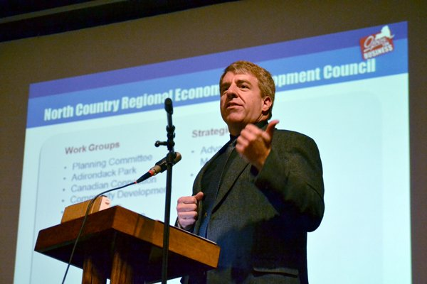 JOINING FORCES - Morehouse Town Supervisor Bill Farber heads the Adirondack Park subcommittee of the North Country Regional Economic Development Council. Their Oct. 19 Indian Lake forum was among the best-attended, council members said.