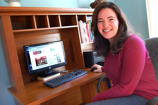 Eileen Gardner of Peru was the 200,000th follower of the Publishers Weekly Twitter page, landing her a guest blog on the company's website.