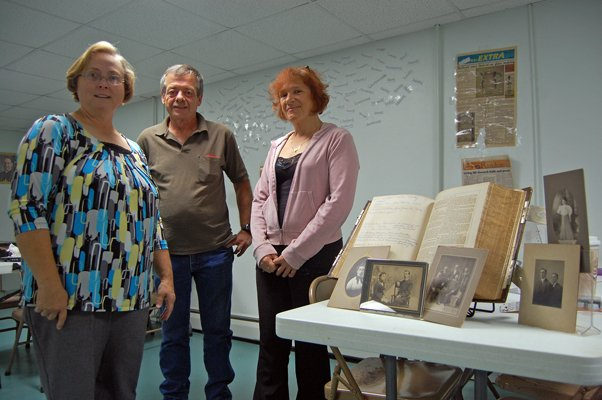 Colleen Seney, John Gould and Julieann Carter, are among those spearheading the Saranac Valley CCNY and Canada Genealogy Society.