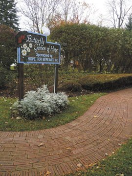 The Hope for Bereaved Butterfly Garden's pathway of memorial bricks recently saw an expansion as an additional 1,000 bricks were added thanks to a donation from Michael Grimm Landscaping and Tree Services.