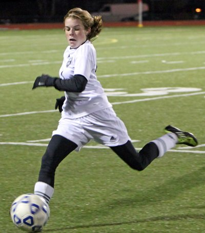 Rachel Pombrio scored the game-winning goal for the Chazy Lady Eagles as they advanced to the NYSPHSAA Class D Final Four.