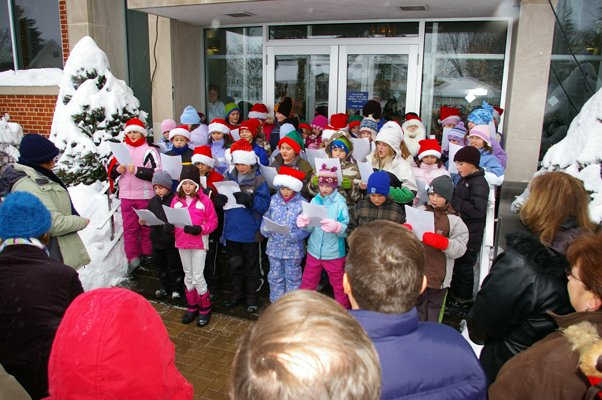 The village of Rouses Point will host several events throughout the holiday season, featuring holiday craft projects, Christmas parties and caroling events, like ones seen here by local elementary students done in past years.
