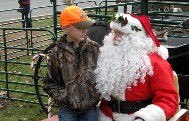 During the 2010 Christmas in Warrensburgh, Santa Claus met with area children, who were able to pet a live reindeer.