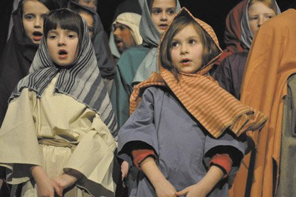 """Children perform as part of last year's production of """"A Baby Changes Everything"""" at North Syracuse Baptist Church. This year, the church will perform """"Searching for the King."""""""