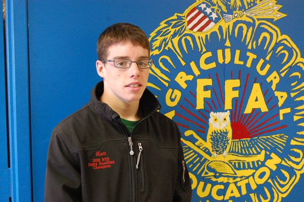 Matt Carter, a senior at Northern Adirondack Central School, earned top honors at a national FFA competition.