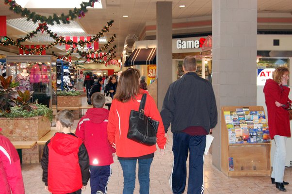 Despite economic struggles, shoppers continue to flock to the Champlain Centre Mall in Plattsburgh.