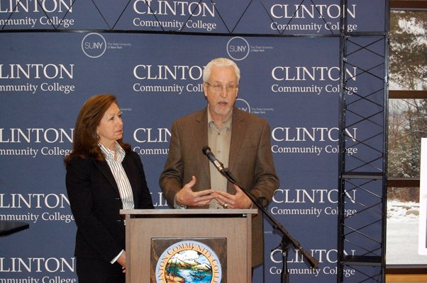 Clinton Community College named Judy and Larry Jeffords of Jeffords Steel and Engineering Company co-chairs of Clearly Clinton, the schools first ever capital campaign.
