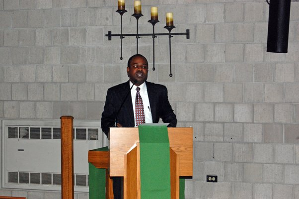 Shaun Smith, chair of the Dr. Martin Luther King, Jr. Commission, speaks at the annual celebration of the civil rights leader's life.