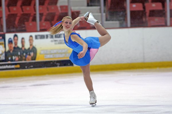 Jaylyn Orwig competes in figure skating.