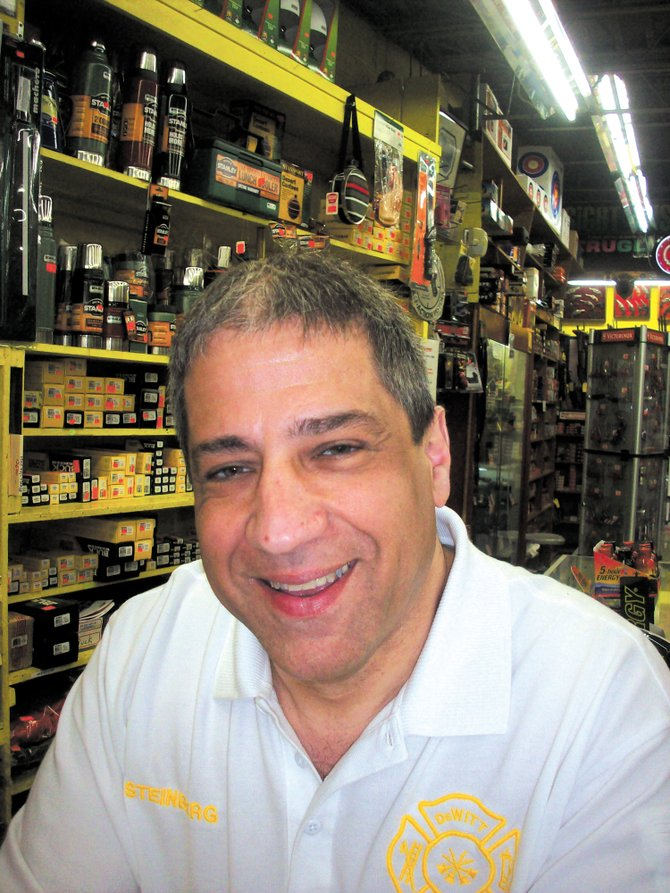 David Steinberg's family has owned and operated the sporting goods department within Ra-Lin since 1959.