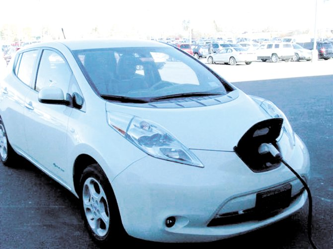 Driver's Village has two all-electric vehicles available from Nissan (pictured) and Mitsubishi.