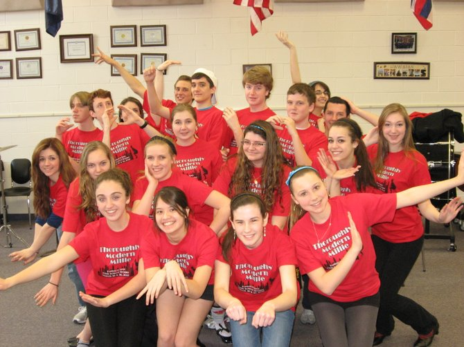 "The cast of ""Thoroughly Modern Millie"" from Ballston Spa High School is ready for the stage."