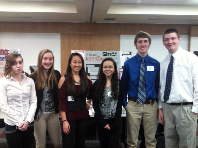 Members of Baker High School's winning team at the Healthcare Olympiad, which took place March 10 at SUNY Upstate Medical University, are (from left) Sam Mandarino, Liz Wisely, Rachel Brown, Brianne Landwersiek, James Wafful and Michael Bernet.