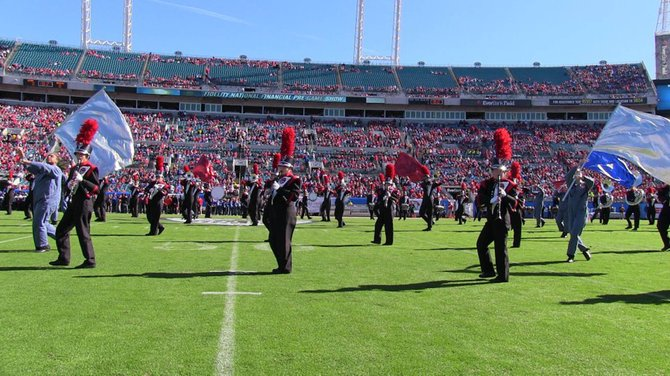 Congratulations to the Baldwinsville Central School District Marching Band, which is pictured performing at the 2012 Gator Bowl in Florida.