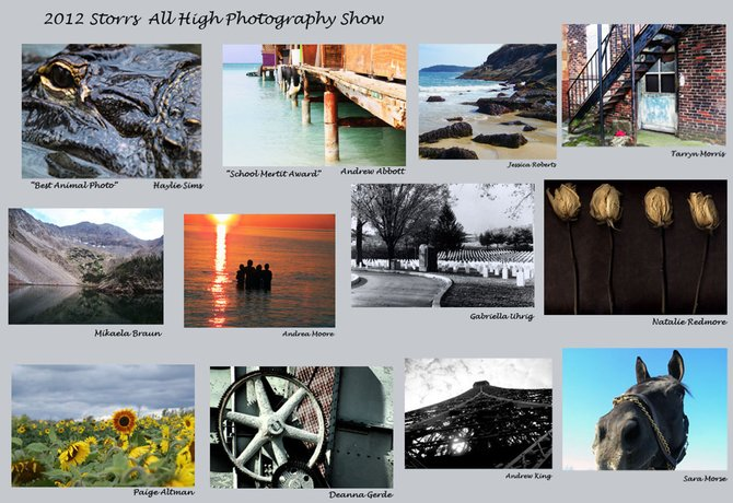 A collage of the Baldwinsville student photos featured in the 27th Annual Storrs All-High Photo Show.