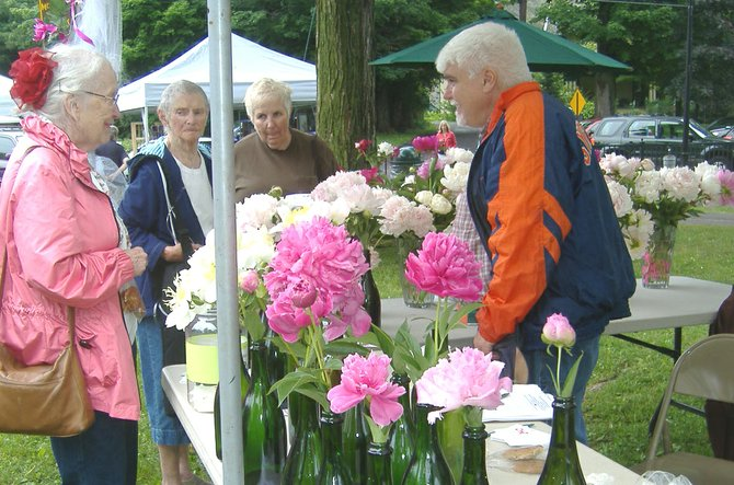Everyone is invited to enter the annual peony flower show when it returns to Peony Fest this Saturday at the Museum at the Shacksboro Schoolhouse at 46 Canton St. in McHarrie Park.