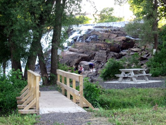 A new walking trail, providing access to the La Chute River Falls, will be dedicated Saturday, July 14.