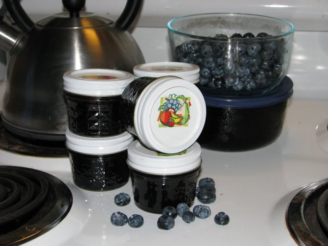 The iCan 2012 event in Liverpool Aug. 11 will teach would-be canners how to create homemade preserves and jams like this blueberry version, made by Eagle freelancer Miranda Pennock.