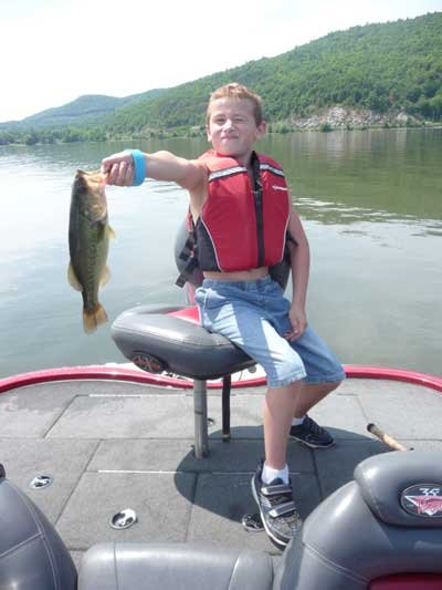 Mike Race of Wadhams caught this nice largemouth on a swim bait in the Ticonderoga area.