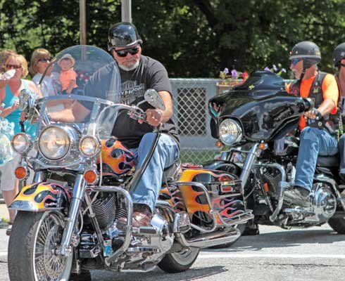 "Charlie Burgey and members of the New York Chapter 19-3  of the Combat Veterans Motorcycle Association took part in the fifth annual ""Ghost Ride"" July 21."