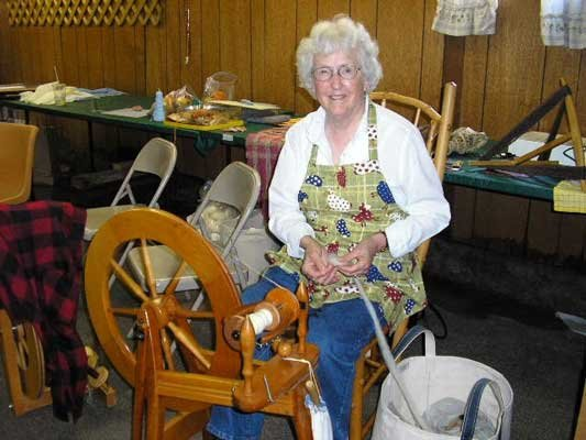 Carol Gregson of the Serendipity Spinners demonstrates her spinning skills at the 2009 Warren County Youth Fair. She is to be among the many artisans featured at the Warren County Rural Heritage Festival & Youth Fair scheduled for Saturday Aug. 11 at the county fairgrounds off Schroon River Road in Warrensburg.