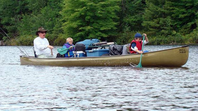 Joe Hackett spends a fair amount of time in the vast Lows Lake region, fishing and paddling with guests.