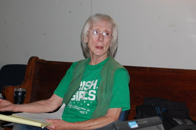Mary Alice Shemo at a meeting of People for Positive Action.