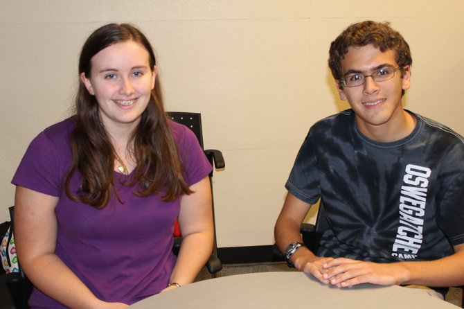 Emily Ekross, left, and David Hutter, seniors at Baker High School, have been named 2013 National Merit Scholarship Semifinalists. 