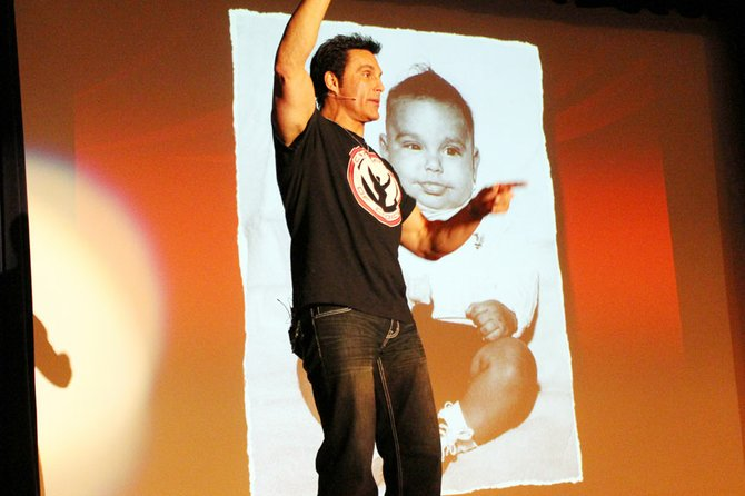 Former WCW and WWE Wrestling Champion Marc Mero brought his Choices presentation to Baker High School Sept. 21. 