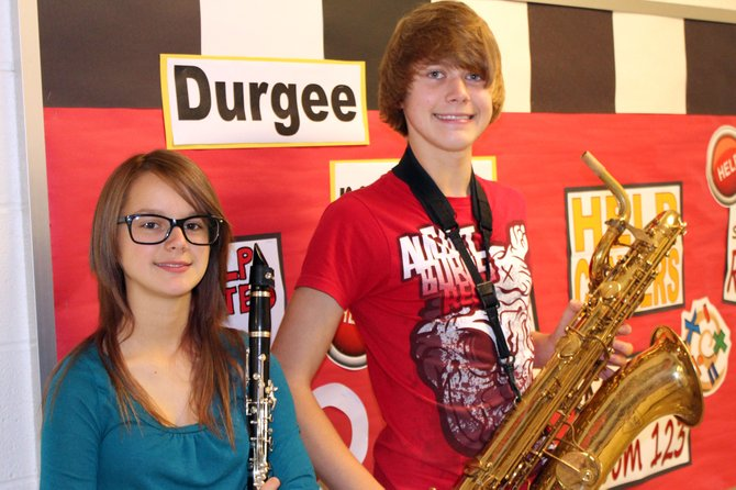 Mary Zarnowski, left, and David Millen will perform with the Junior High School Area All-State band in November.