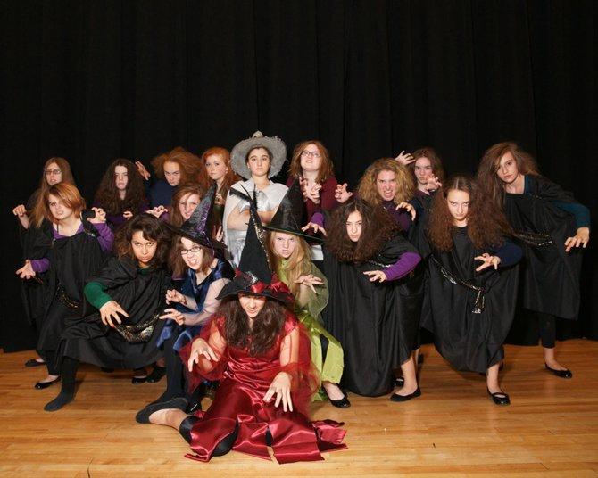 The lovely witches of Annabelle Broom will scare up some fun in Durgee Junior High Schools presentation of the musical on Nov. 2 and 3 at the Baker High School auditorium.
